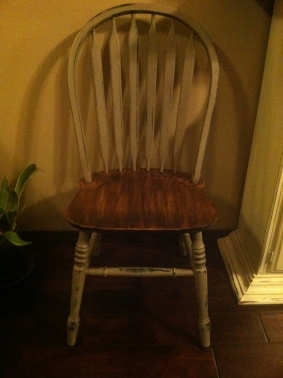 Some sanding and some dark wax does wonders to fix up some ugly chairs.